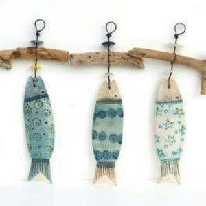 Fish wall hangings set of 3